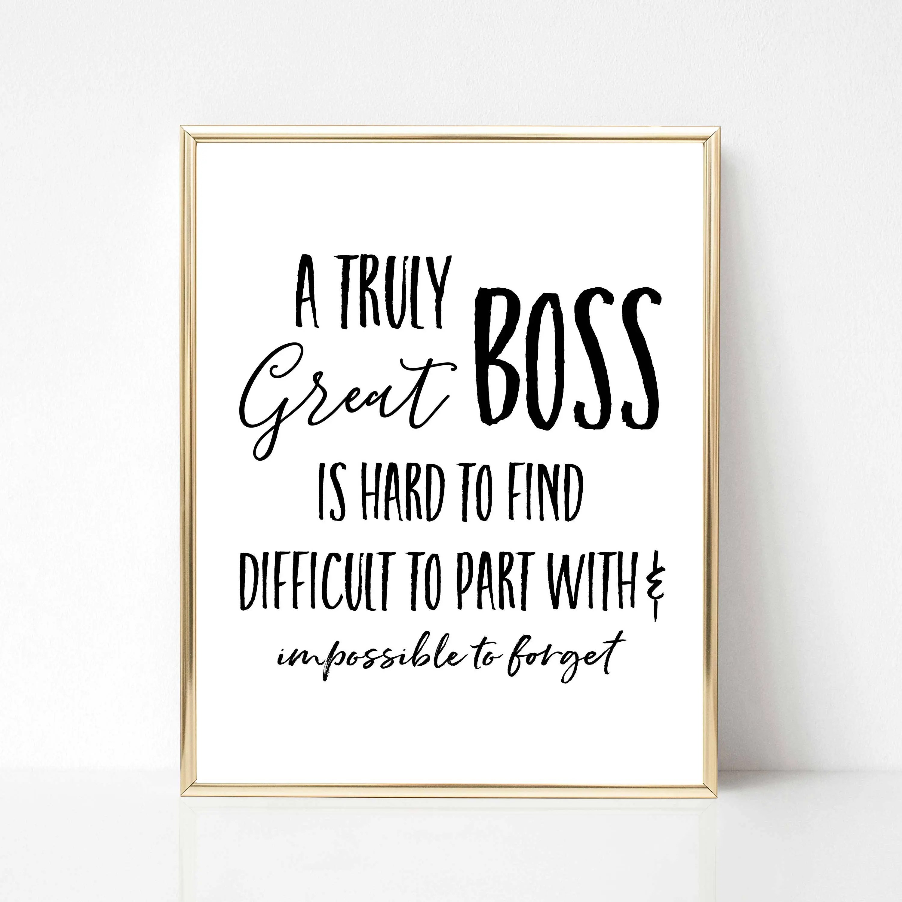 A Truly Great Boss Printable Gift Best Boss Ever Gift Boss Etsy