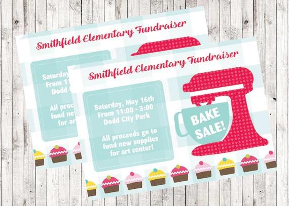Bake Sale Fundraiser / Printable Flyer / School / Church /