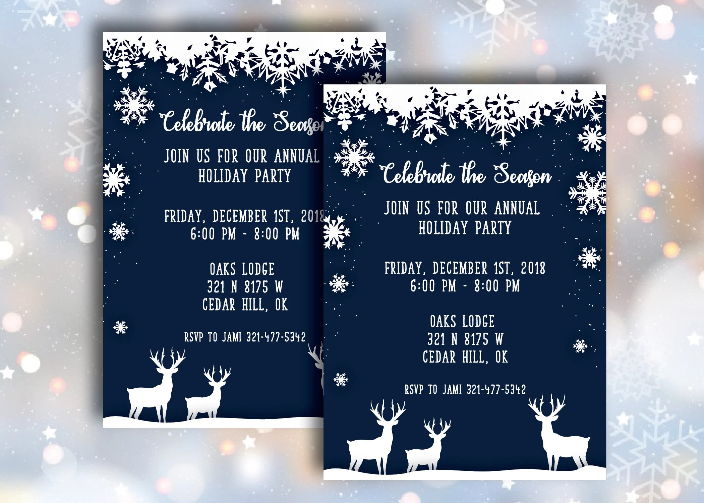 Neighborhood Christmas party invitations/ Christmas Flyer / Etsy