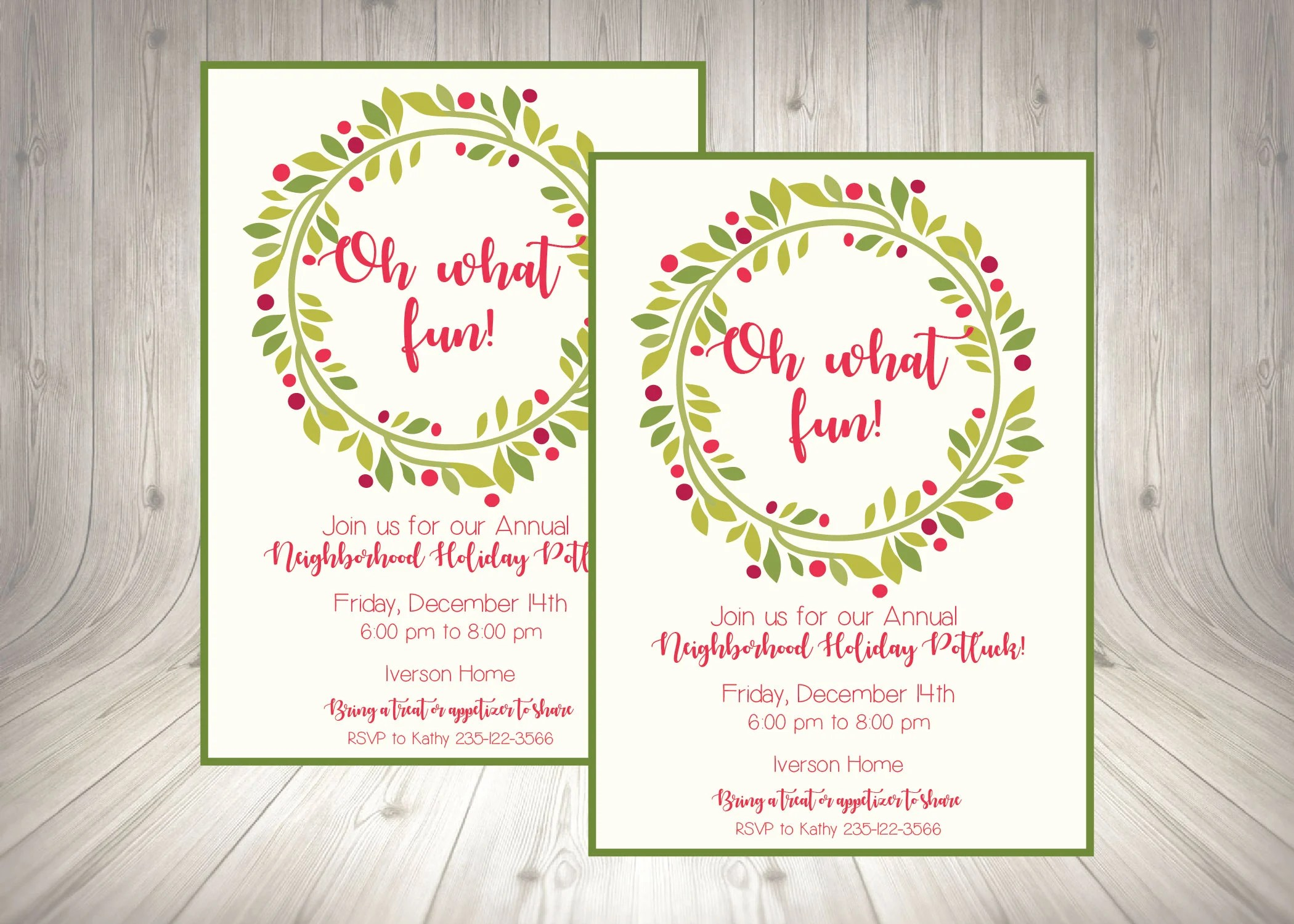 Christmas Flyer / Holiday Party Invitation / Work Holiday Etsy