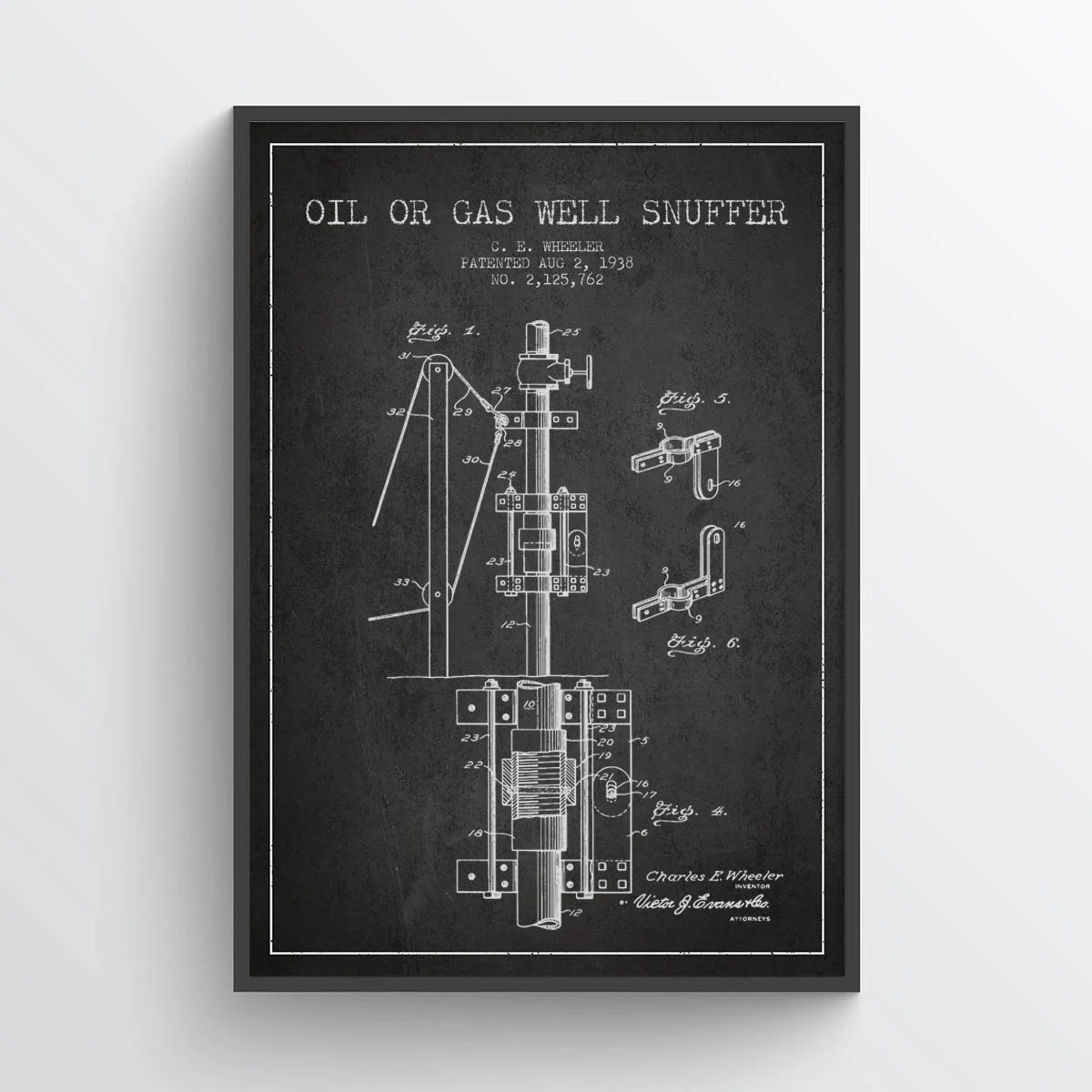 1938 Oil or Gas Well Snuffer Patent Gas Well Print Gas Etsy