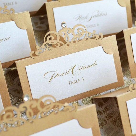 Escort Cards/Place Cards - PAPER  LACE