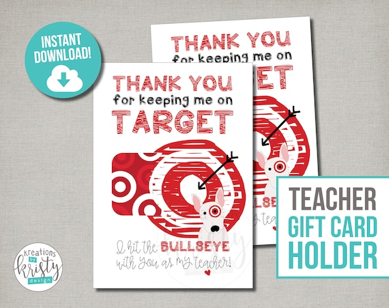 Target Gift Card Holders printable file Instant Digital Etsy