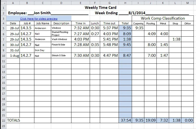 How To Calculate A Timecard incrediblezinfo