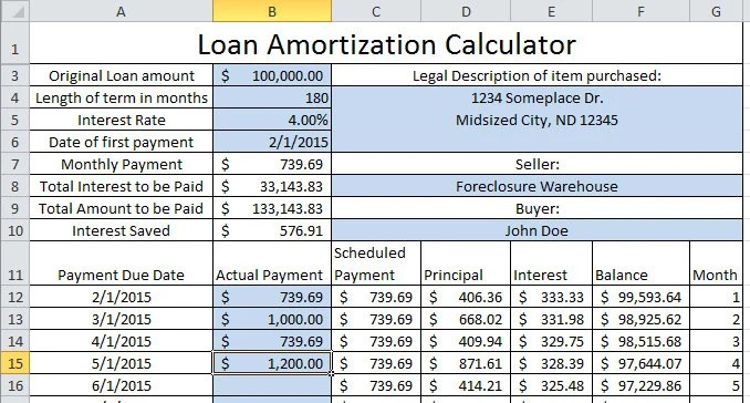 Updating Loan Amortization Calculator up to 30-year Etsy