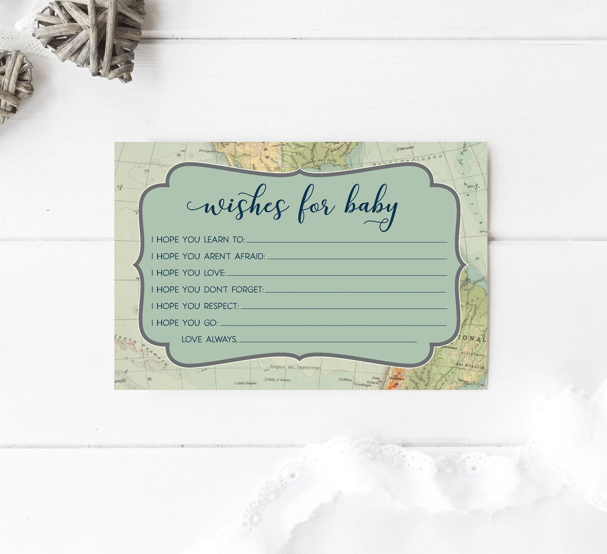 Wishes for Baby Shower Game Adventure Hopes for Baby Dear Baby