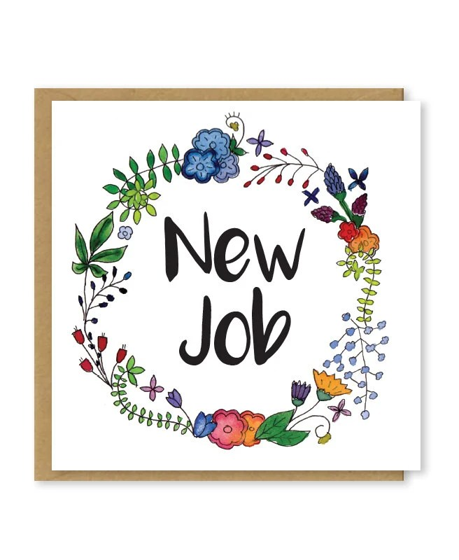 New job card Congratulations on your new job Good luck in Etsy
