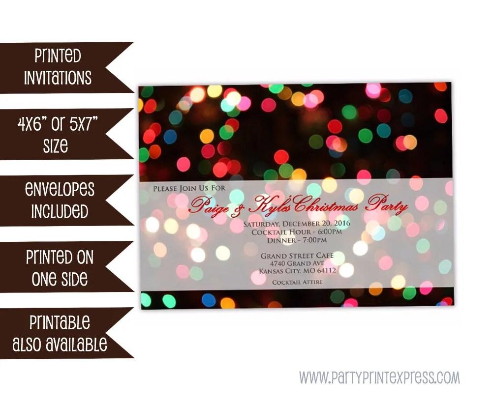 Christmas Party Invitation Company Christmas Party Etsy