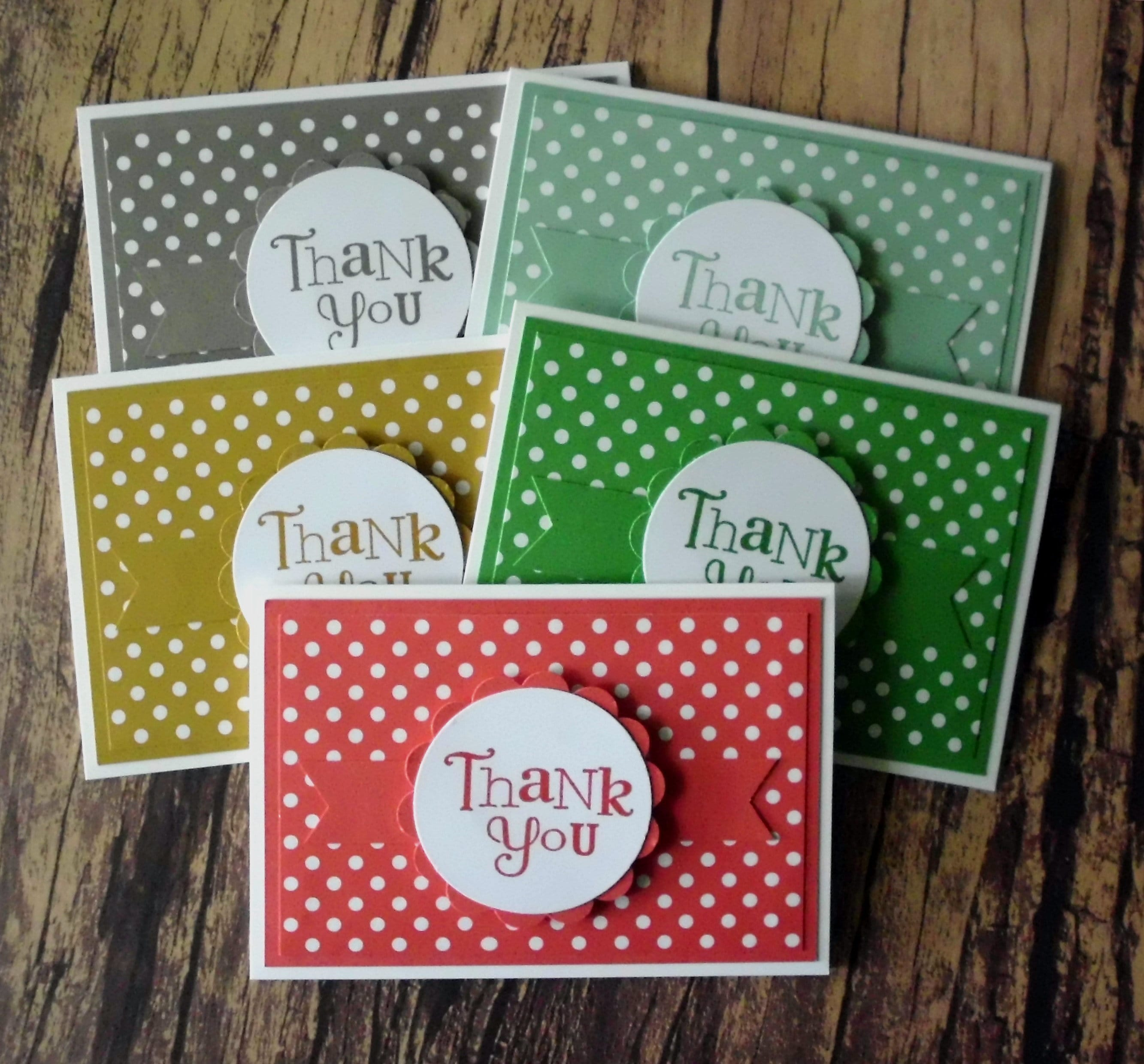 Stampin Up Karten Verkaufen Mini Thank You Cards Set Of 5 Stamped Greeting Cards Small Assorted Thank You Cards Stampin Up Thank You Note Card Set Handmade Cards