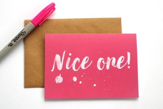 Bonita una gracias tarjeta tarjetas de agradecimiento Etsy