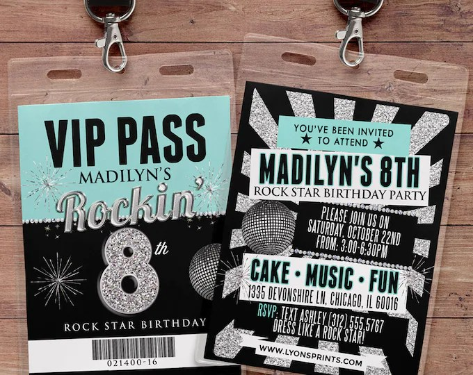 BIRTHDAY INVITATIONS - LyonsPrints - concert ticket birthday invitations