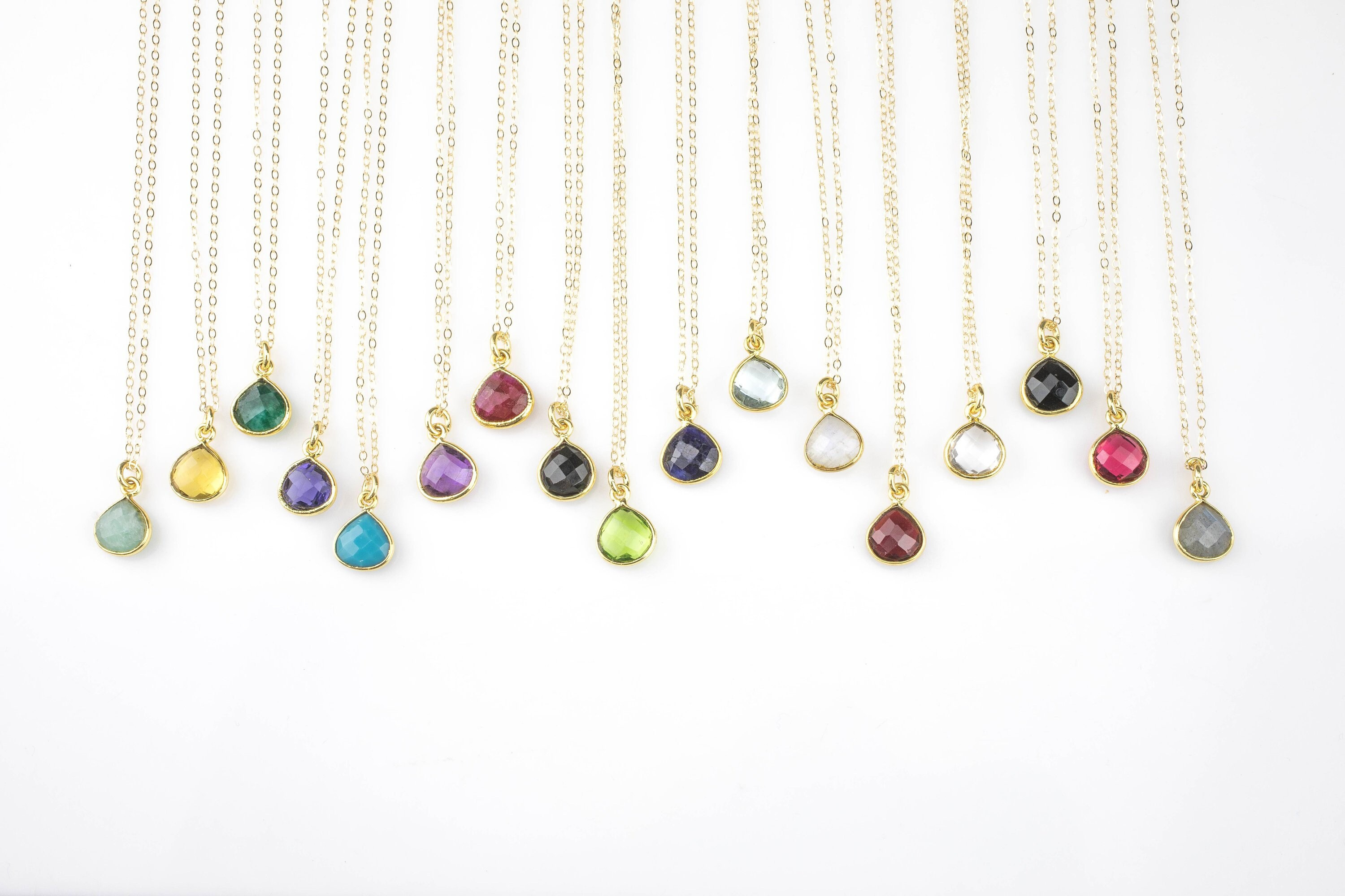 Wholesale Jewelry Gold Filled Gold Filled Birthstone Necklace 14k Gold Filled Chain