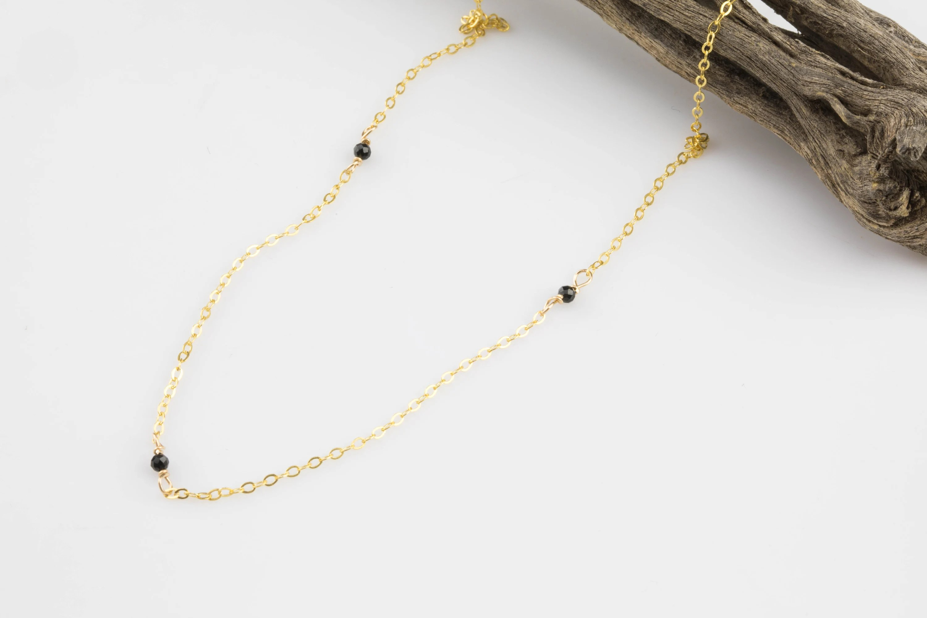 Wholesale Jewelry Gold Filled Gemstone Satellite Gold Filled Necklace Minimalist Jewelry