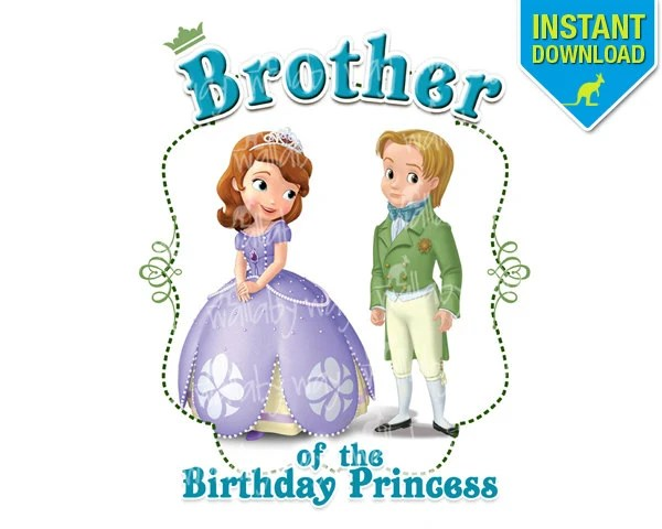 Sofia the First Birthday BROTHER of the Birthday Girl Disney Etsy