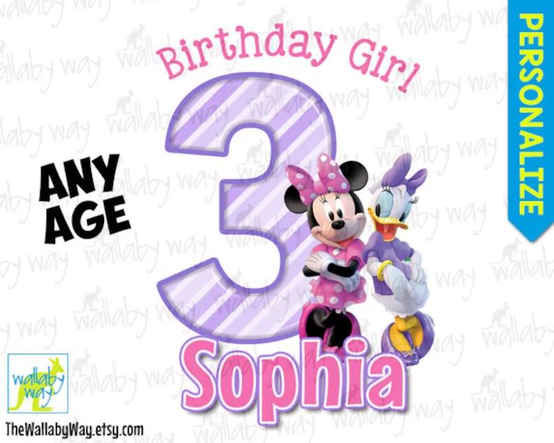 Minnie Mouse  Daisy Duck Birthday Printable Iron On Transfer Etsy