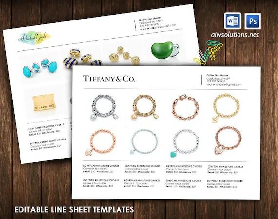 Product Line Sheet Wholesale Catalog template mini product Etsy