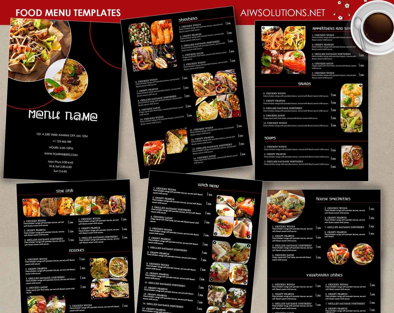 Food Menu template Cocktail Menu Restaurant menu Thai menu Etsy