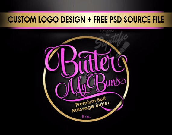 Product label design with FREE PSD source file, any color product