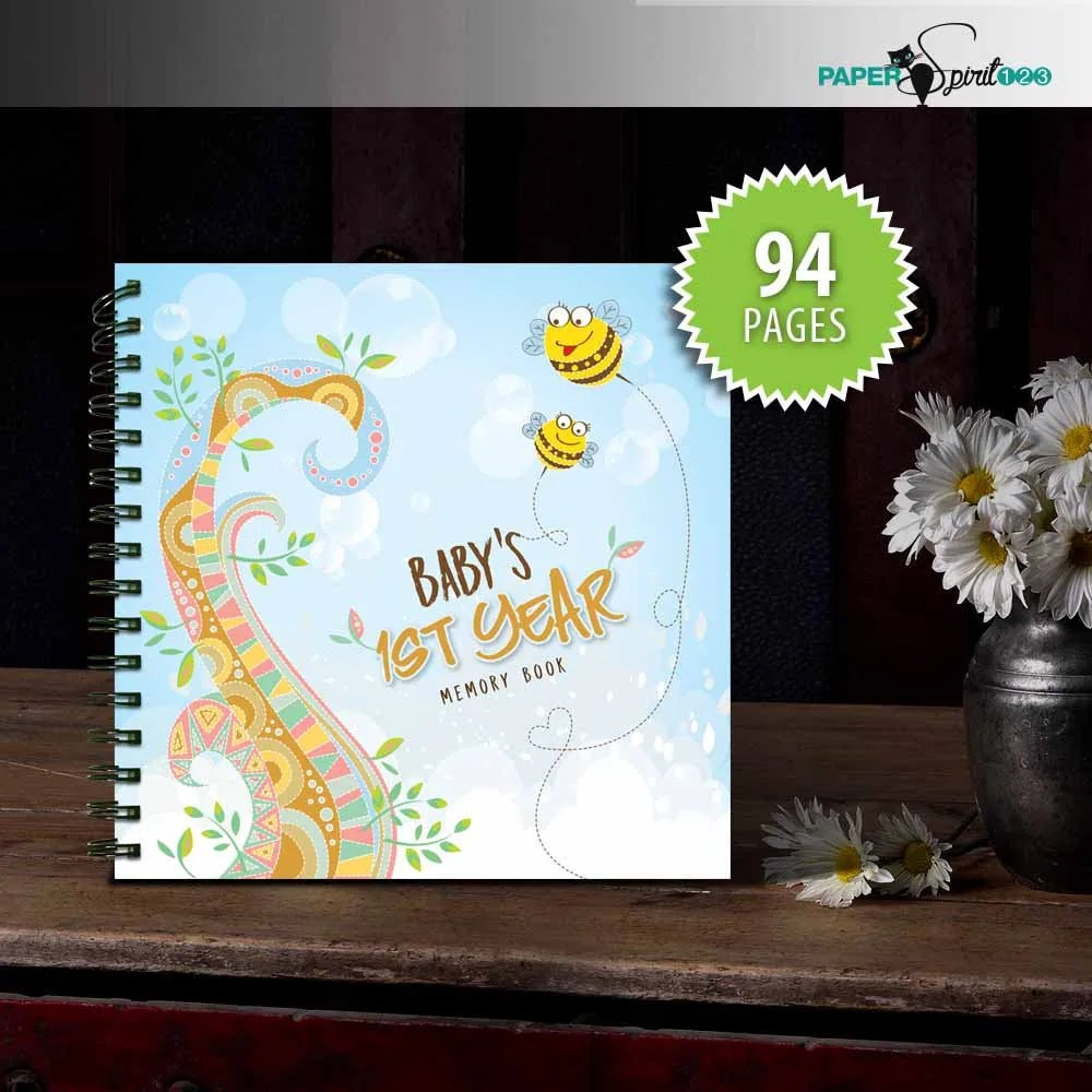 Baby\u0027s first year memory book 94 pages printable Etsy