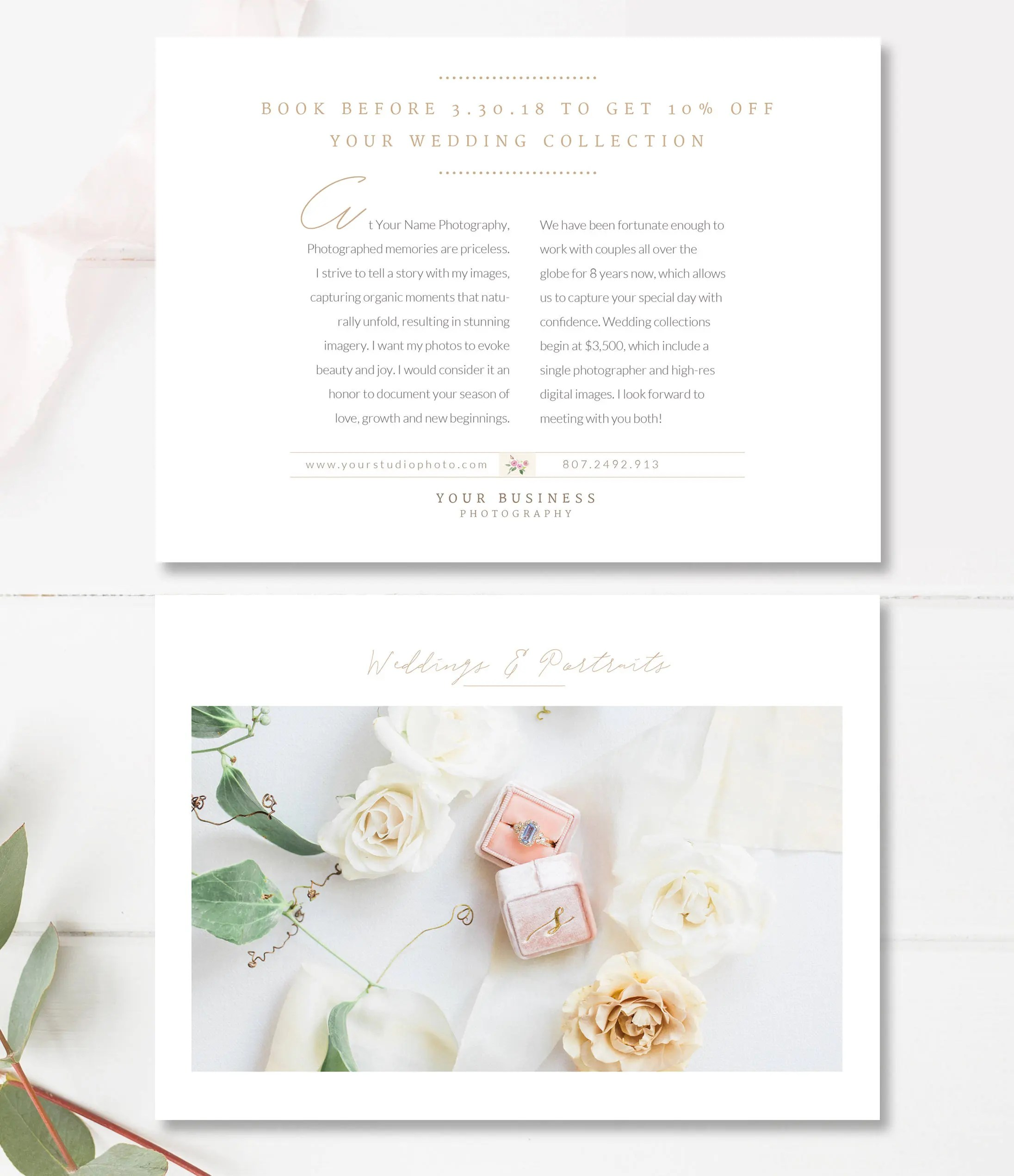 Flyer Design Template for Photographers  Wedding Planners Etsy