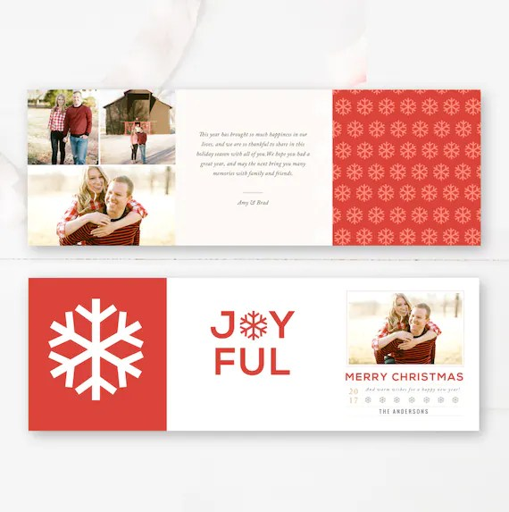 5x5 Trifold Design Holiday Photographer Templates Christmas Etsy