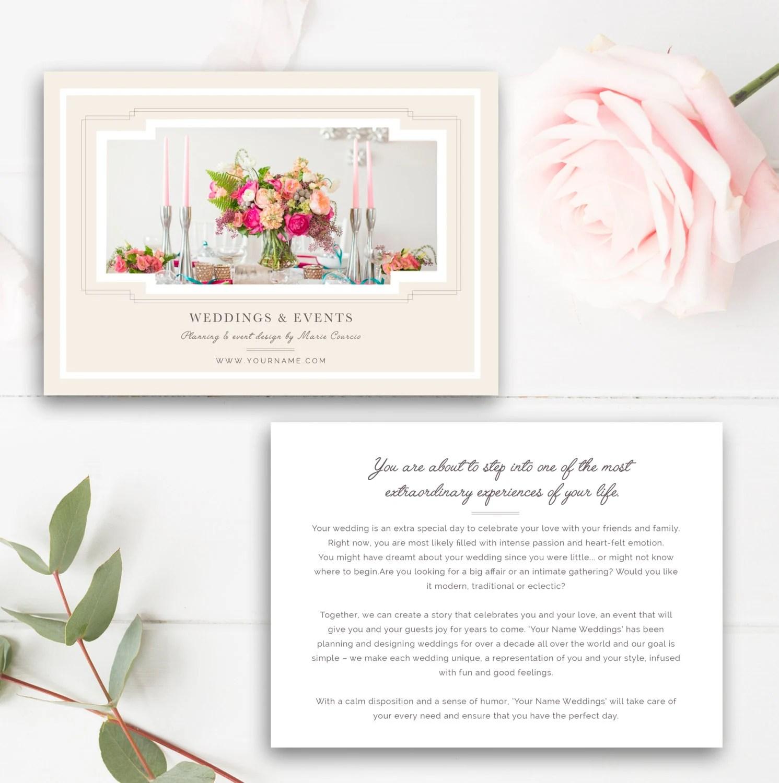 Wedding Planner Marketing Flyer Template Event Planning Etsy