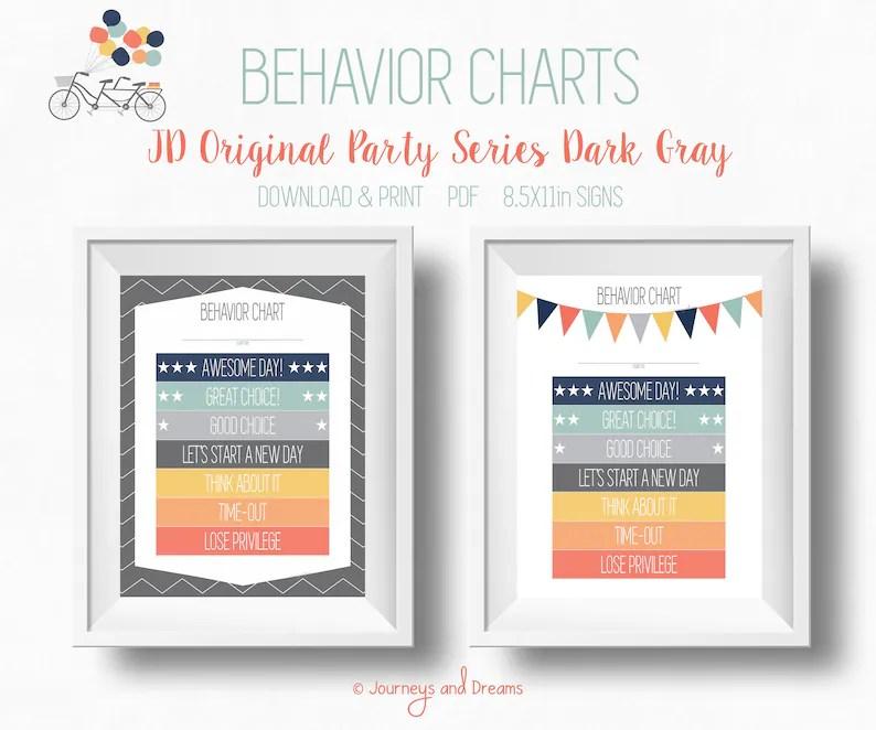 Behavior Chart  85x11 Sign  PRINTABLE  DIGITAL DOWNLOAD  Etsy