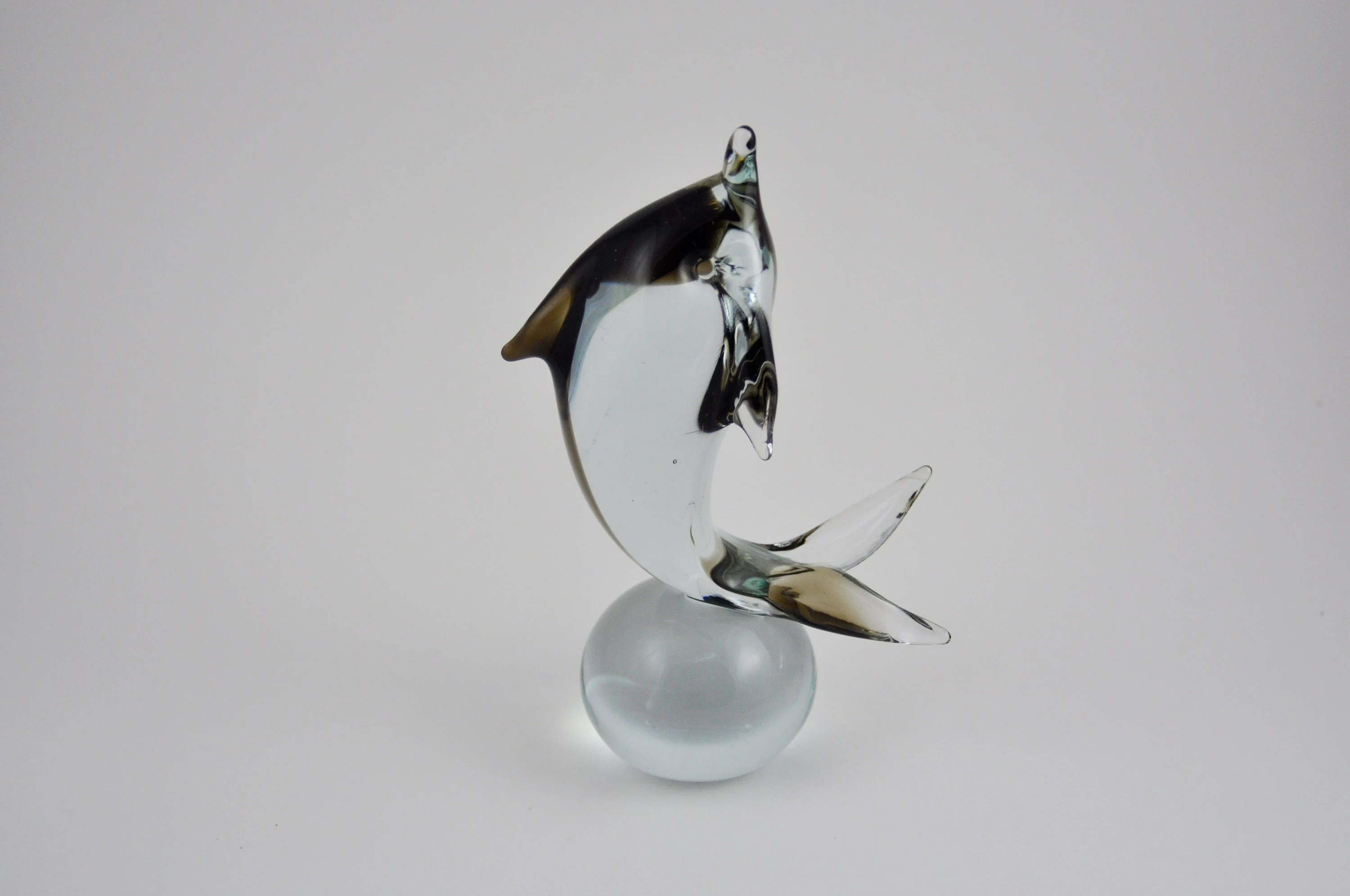 Arte Murano Icet Bird Gallerymichel Arte Murano Icet Cool Gray Glass Dolphin On A Ball