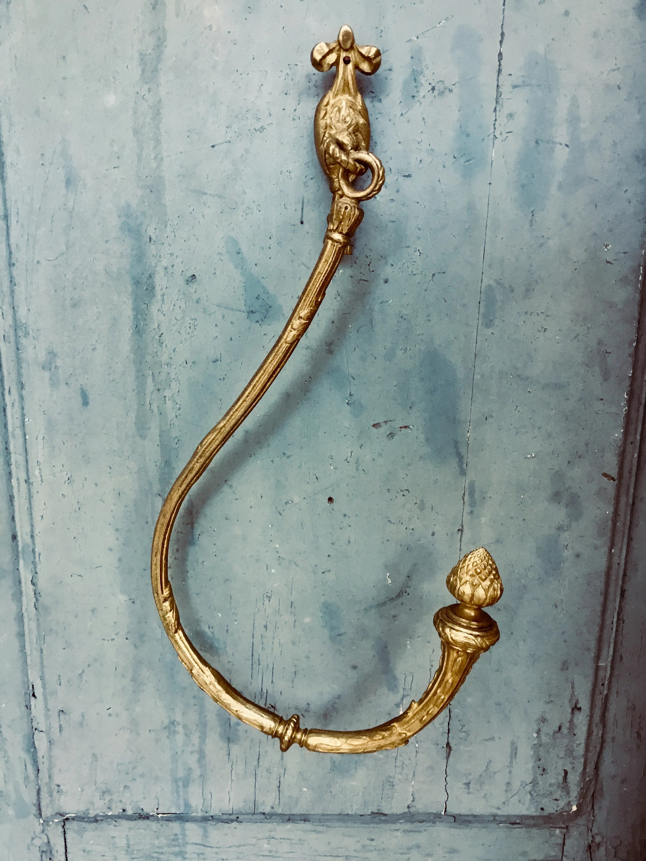 Antique Bronze Curtain Tie Backs Large Curtain Tie Backs Beautiful Antique Swinging Gilt Bronze