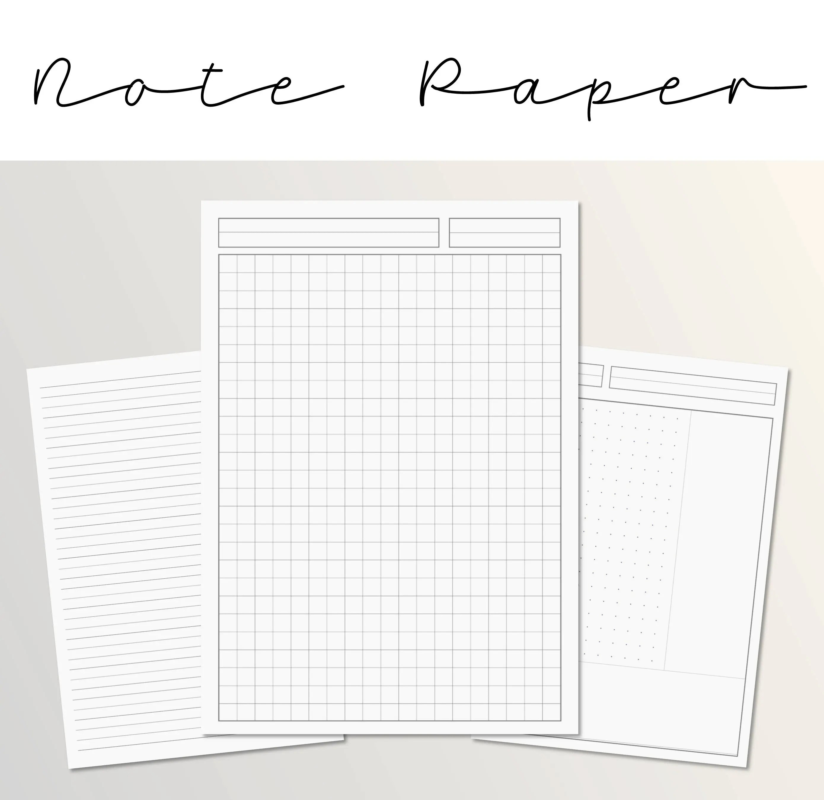 Note Paper Template Lecture Note Paper Dotted Grid Lined - note paper template