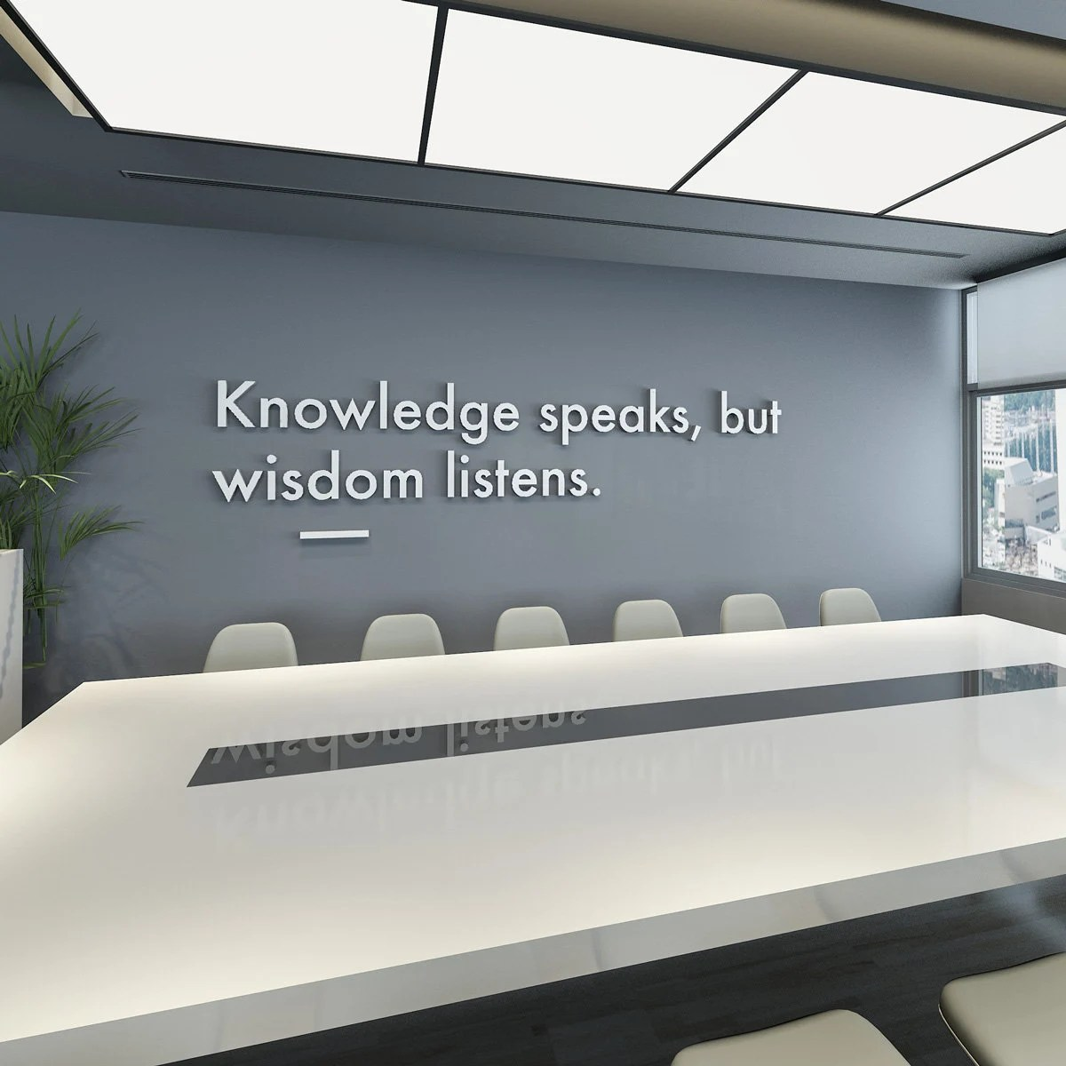 3d Wall Decor Wisdom Listens 3d Wall Art Office Decor Office Wall Art Meeting Room Office Art Wall Decor 3d Office Quotes Quotes Sku Kswl
