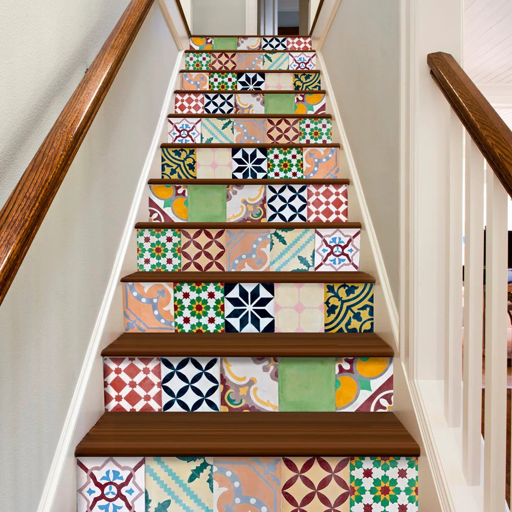 Etsy Carrelage Adhésif Stair Stickers Tile Decal Carrelage Adhésif Stair Decals Tile Stickers Vinyl Floor Tiles Mosaic Wall Art Tile Pack Of 30 Sku Padda