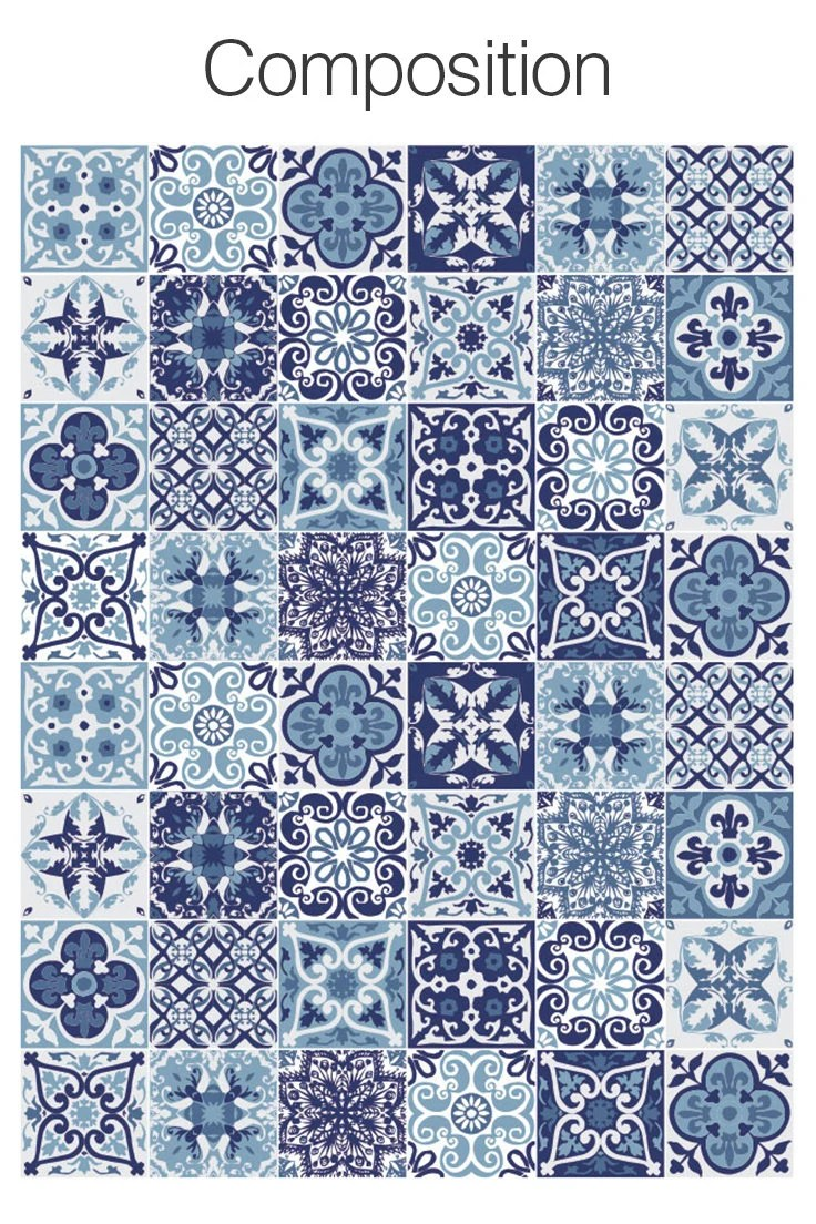 Etsy Carrelage Adhésif Portuguese Tiles Tile Stickers Tile Decal Carrelage Adhésif Stickers Escalier Fliesenaufkleber Tile Decals Pack Of 48 Sku Bptiles