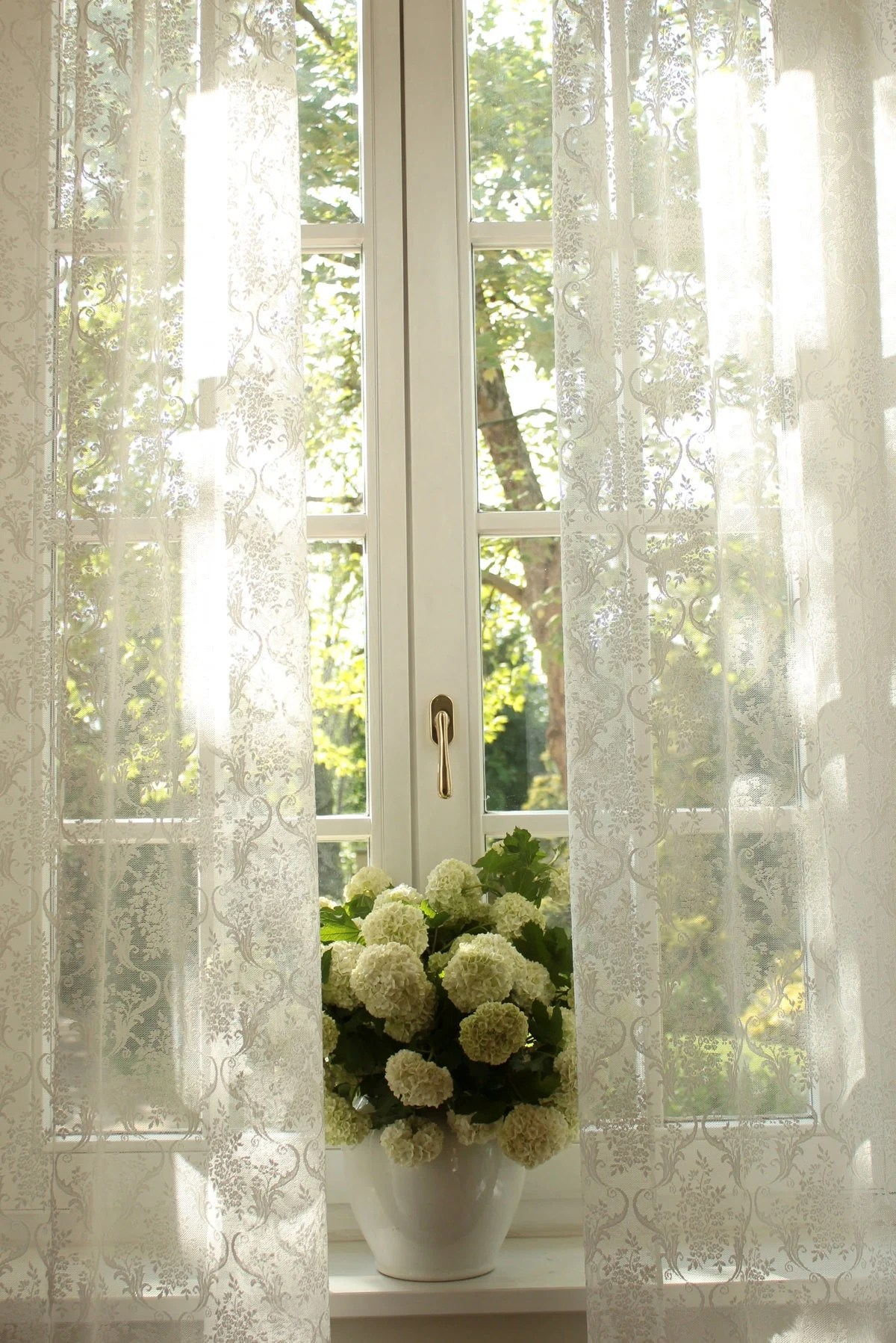 French Lace Curtains Josephine Fine French Embroidered Off White And Natural White W110
