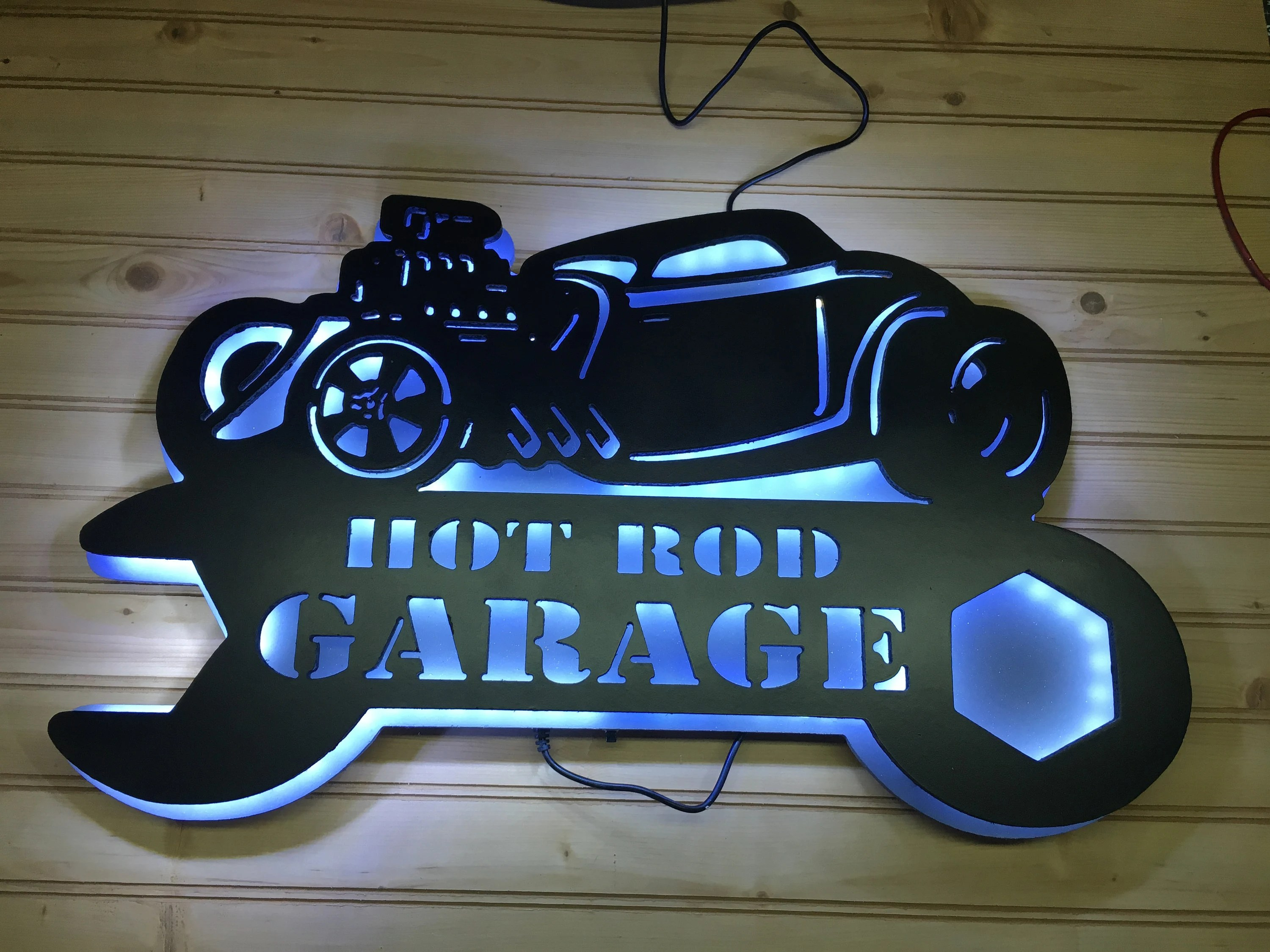 Garage Man Cave Extension Hod Rod Led Sign Garage Art Led Sign Man Cave Sign Rat Rod Classic Car Wall Art Vintage Car Sign Wall Decor Garage Sign Gift
