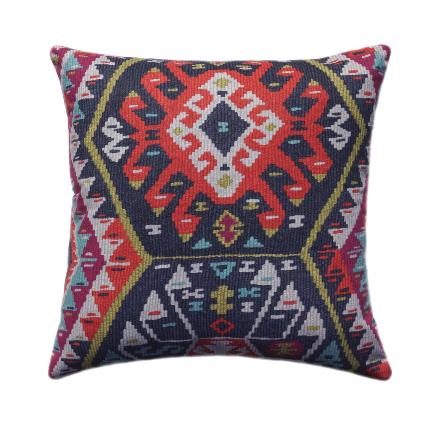 Kilim Paris Kilim Pillow Cover Tribal Throw Pillow Aztec Pillow Cover Boho Pillow 11 Sizes Longrock Fiesta Pillow Cover With Hidden Zipper