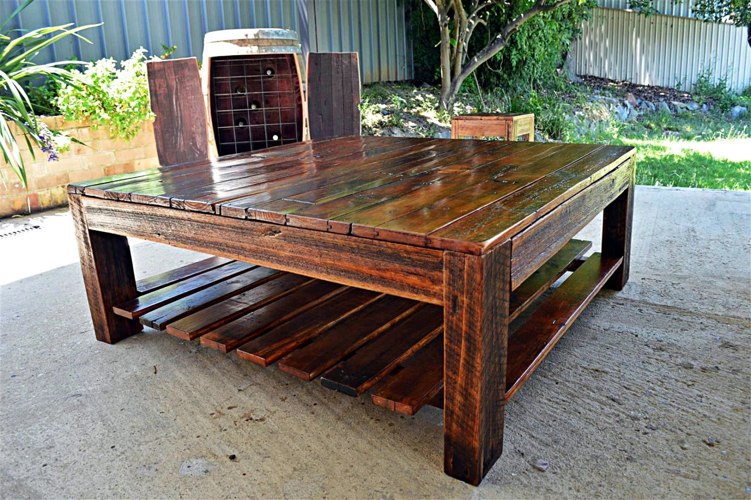 Solid Timber Coffee Table Square Recycled Timber Coffee Table Made In Australia Reclaimed Wood Rustic Barn Solid Country Cottage Large 1 2m X 1 2m