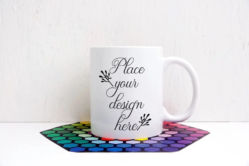 White Mug Mock up Coffee Cup Mockup White Mug template psd Etsy