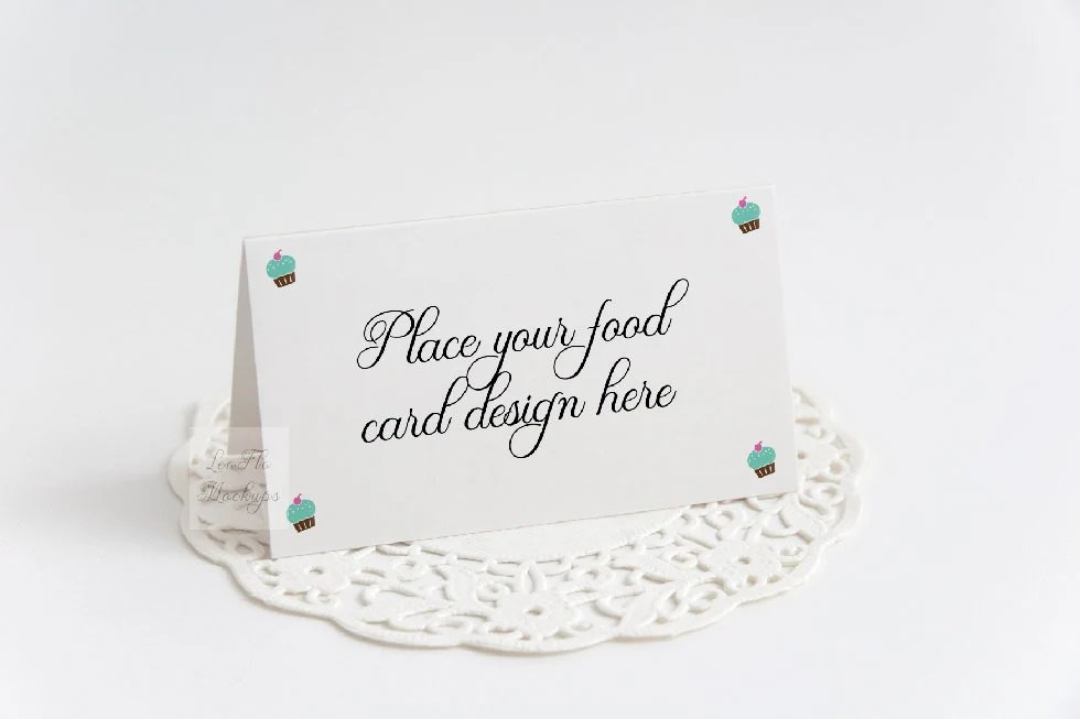 Food card mockup Buffet card mock up Place card template Etsy