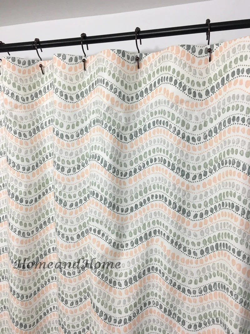 108 Inch Wide Shower Curtain Retro Shower Curtain Fabric Shower Curtain Custom Shower Curtain Sage Green White 72 X 84 108 Long Shower Curtain Extra Wide Shower Curtain