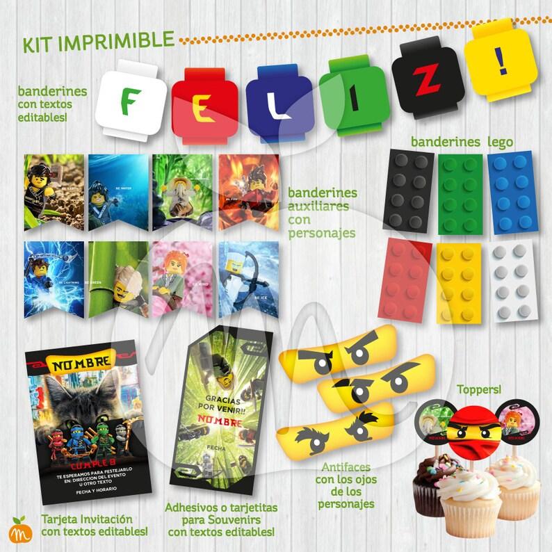 NINJAGO LEGO Printable and editable texts kit Baby shower or Etsy