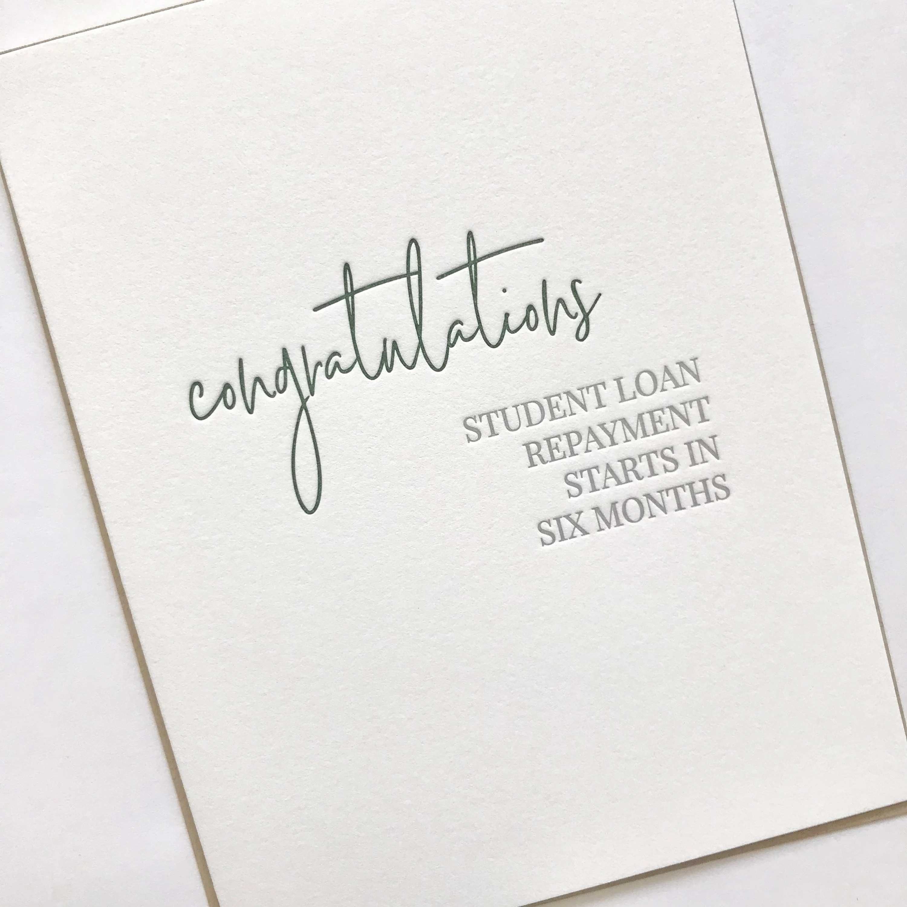 Congratulations Card Student Loan Repayment Funny Etsy