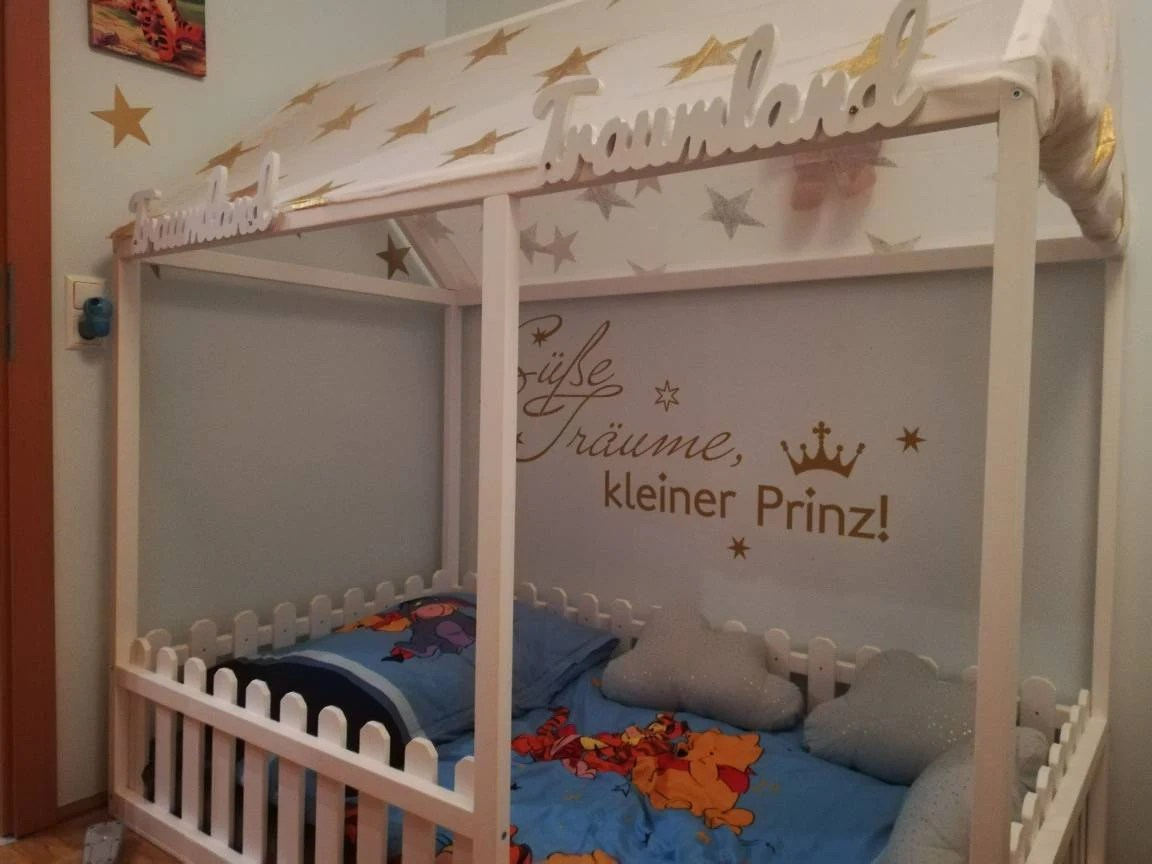 Bett Stabil Painted Toddler House Bed Children Bed Montessori Bed