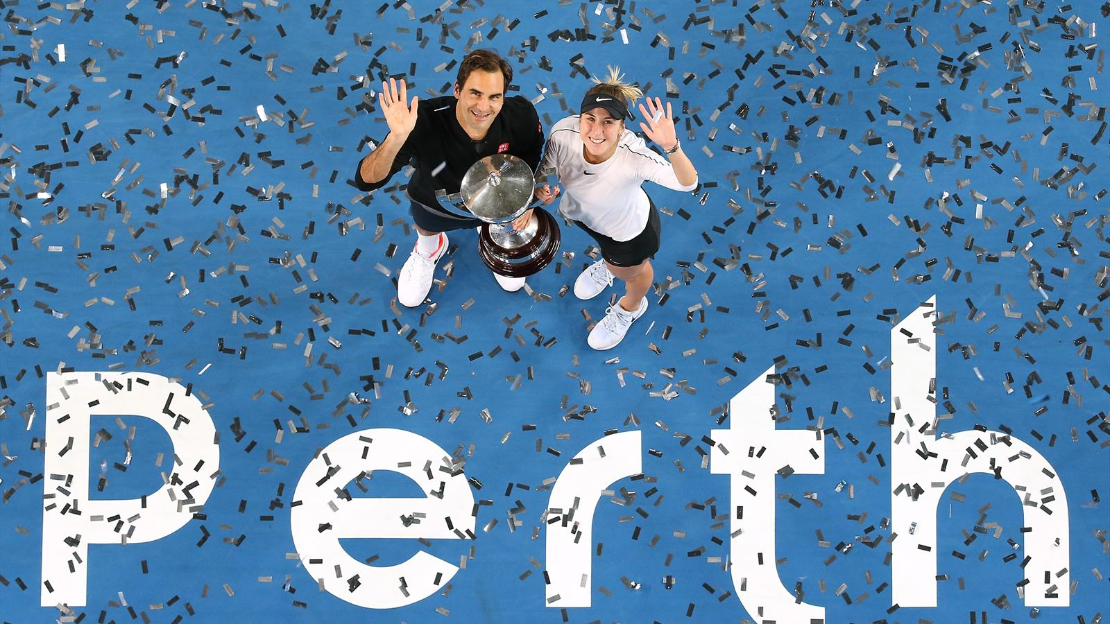 Tennis News Roger Federer And Belinda Bencic Win Hopman