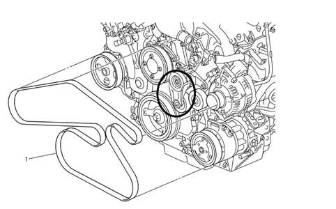 Serpentine belt diagram for 2007 Buick LaCross 38L - Fixya