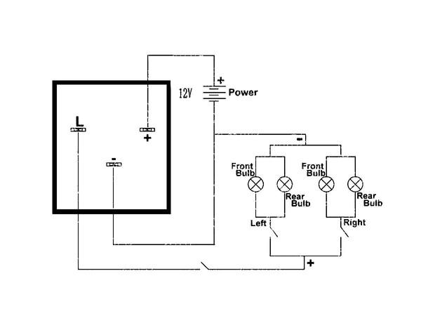 electronic flasher relay ledningsdiagram