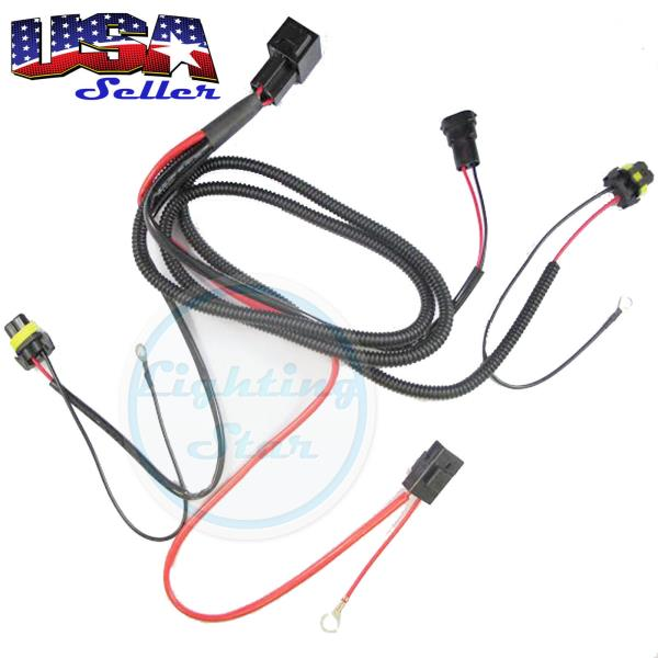 9005 9006 H10 9145 H7 H11 HID Conversion Kit Relay Wire Harness