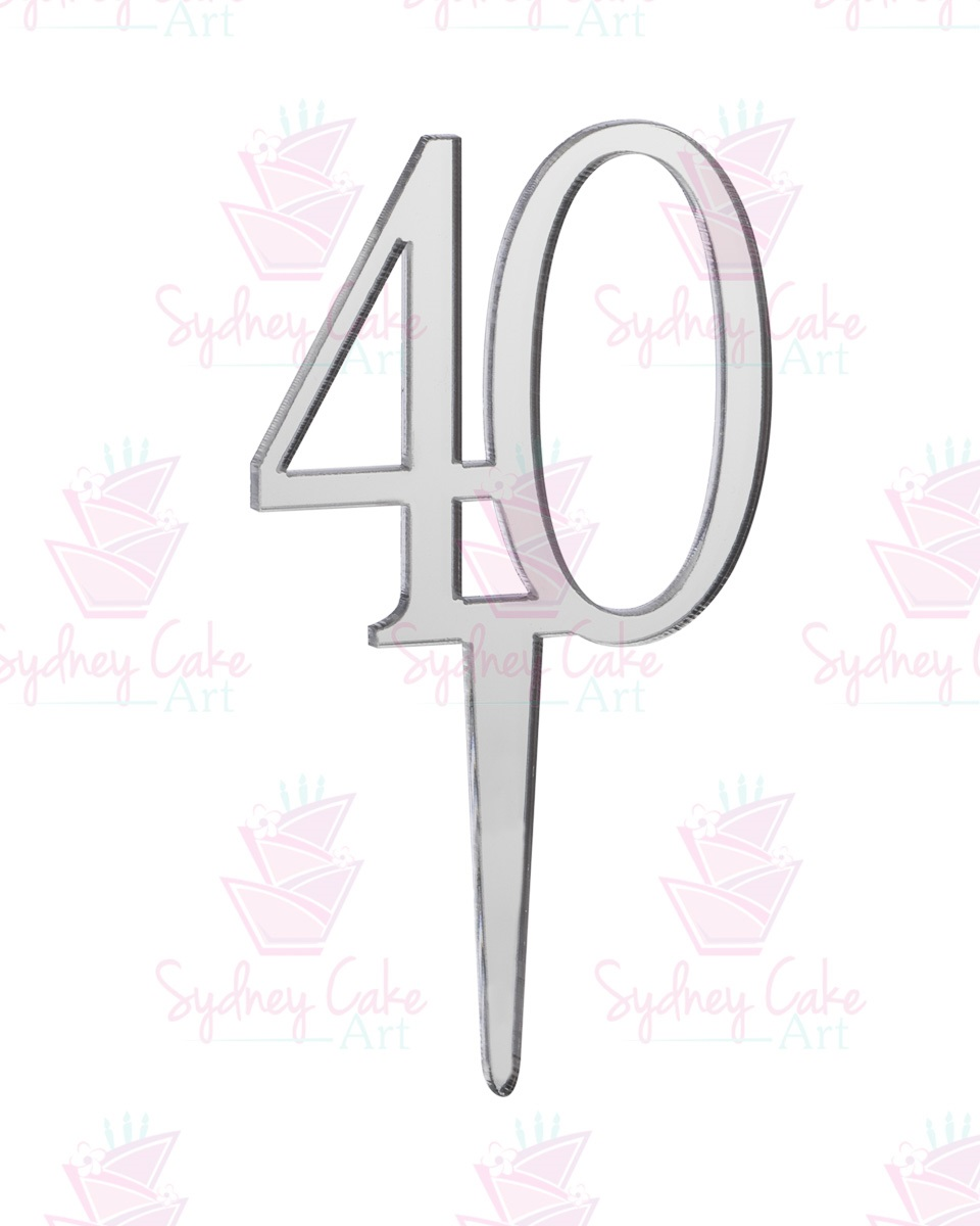 Acrylic Mirror Sydney Details About 40 Birthday Cake Topper Mirror Silver Acrylic 5 5cm