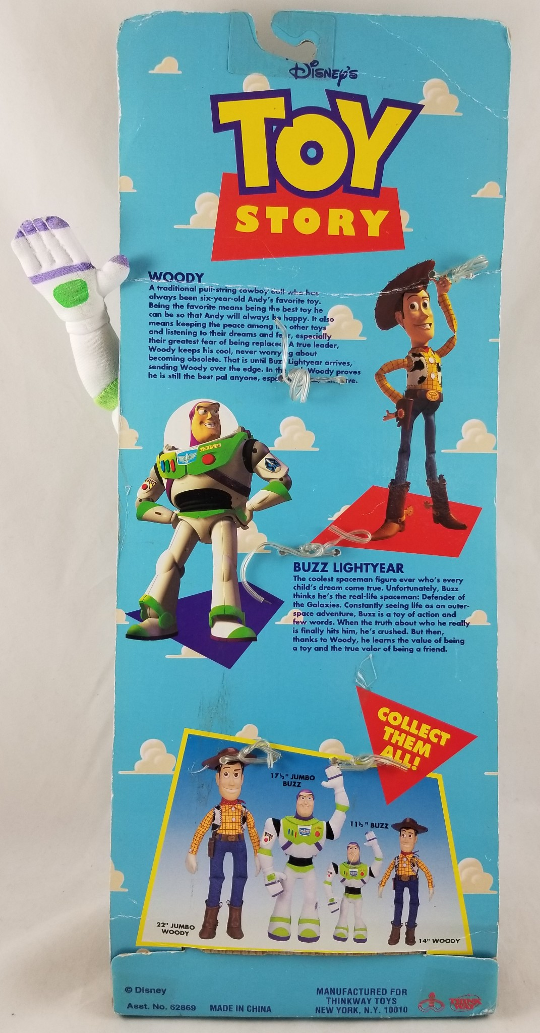 Toy Story Toys Vintage Details About Vintage Original Disney Toy Story Adventure Buddy Buzz Lightyear 11 5