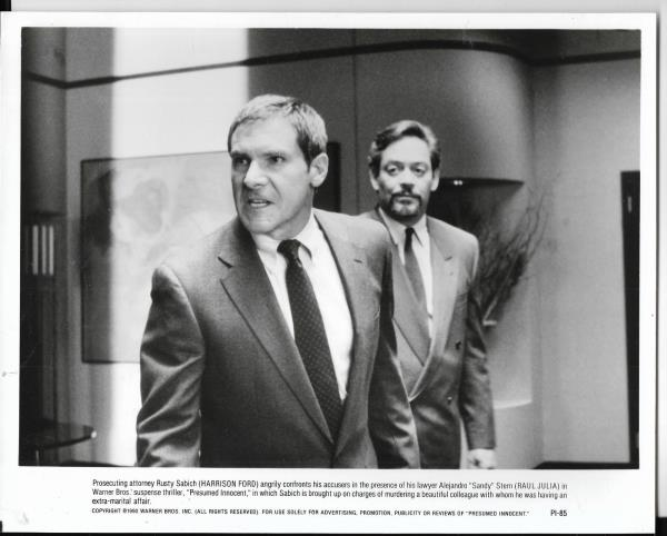 8x10 Hollywood movie pic for Presumed Innocent with Harrison Ford #4 - harrison ford presumed innocent